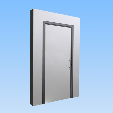 CS Acrovyn® Impact Resistant Doorset - Single leaf without vision panel