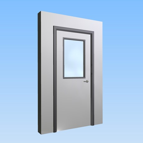 CS Acrovyn® Impact Resistant Doorset - Single with type VP1 Vision Panel