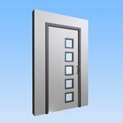 CS Acrovyn® Impact Resistant Doorset - Single with type VP5 Vision Panels