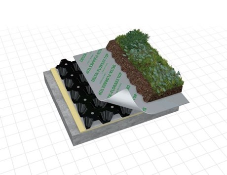 DELTA® FLORAXX Top - Drainage sheet