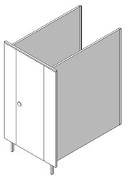 Single Panel Cubicle
