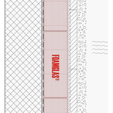 1.2.3 - Wall External - Insulation with Waterproofing Membrane to Below Ground Concrete