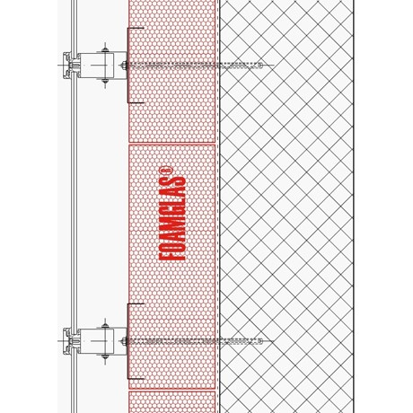 2.4.1 - Facade - Foamglas Insulation with Fixing Positions for Special Features, e.g. Solar Panels
