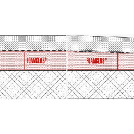 4.5.1 - Roof For Vehicles, Flat or Tapered Insulation (Hot Adhesive) with Membranes and Concrete Slab