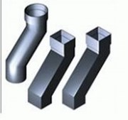 Dales Square & Rectangular Aluminium Pipe with Cast Collars 76.2 x 76.2 mm