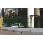 Publifor Half Unit Angled - Metal mesh fence panel