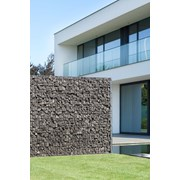 Zenturo Gabion Wall Baseplated - Metal mesh fence panel
