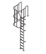 SLC/WT - Fixed Vertical Ladder withSafety Cage and Walk Through