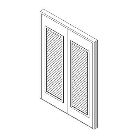 External Double Door with Louvre Panel