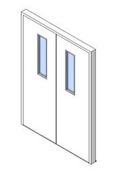 External Double Door, Vision Panel Style VP01