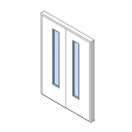 External Double Door, Vision Panel Style VP03