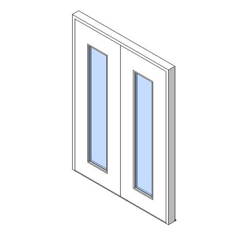 External Double Door, Vision Panel Style VP04