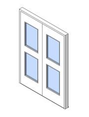 External Double Door, Vision Panel Style VP05