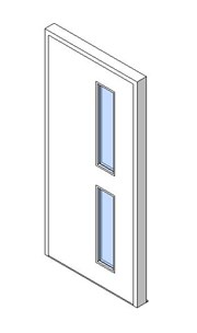 External Single Door, Vision Panel Style VP02