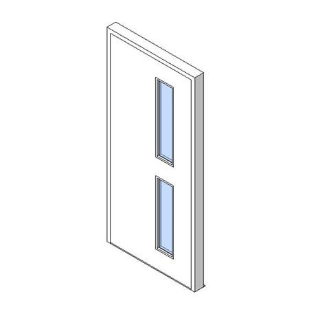 External Single Door, Vision Panel Style VP02