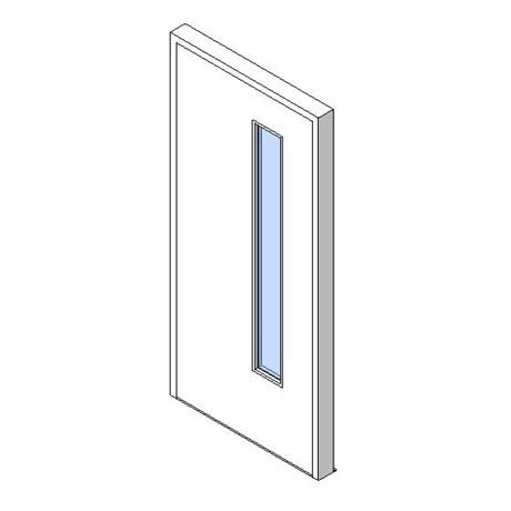 External Single Door, Vision Panel Style VP03