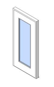 External Single Door, Vision Panel Style VP04