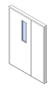 External Unequal Door, Vision Panel Style VP01