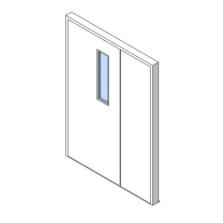 External Unequal Door, Vision Panel Style VP01