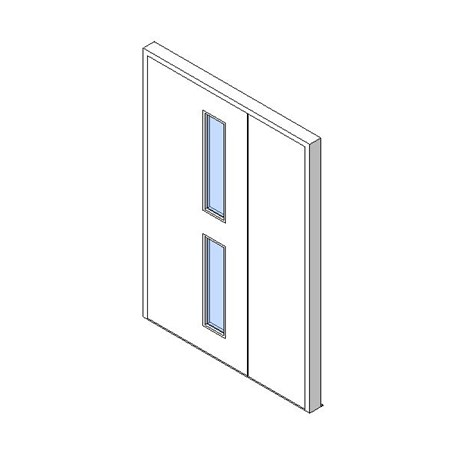 External Unequal Door, Vision Panel Style VP02