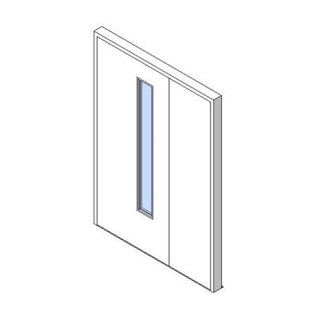 External Unequal Door, Vision Panel Style VP03