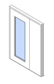 External Unequal Door, Vision Panel Style VP04