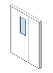 External Unequal Door, Vision Panel Style VP06