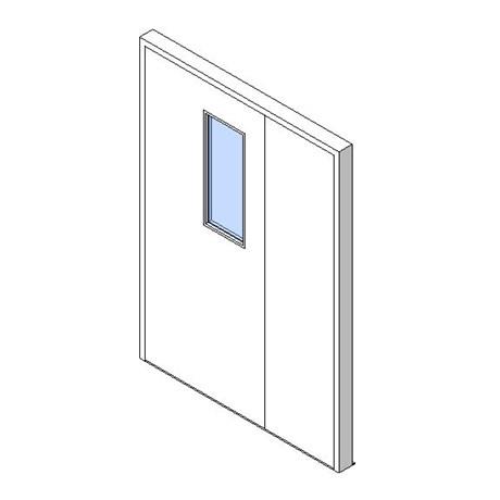 External Unequal Door, Vision Panel Style VP06