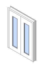 Internal Double Door, Vision Panel Style VP04