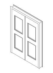 Internal Double Door, Vision Panel Style VP05