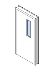 Internal Single Door, Vision Panel Style VP01
