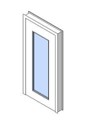 Internal Single Door, Vision Panel Style VP04