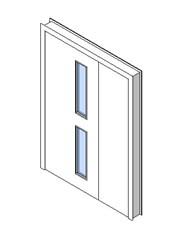 Internal Uneven Door, Vision Panel Style VP02