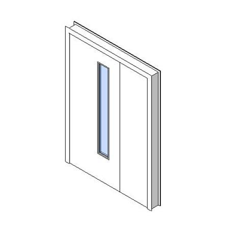 Internal Uneven Door, Vision Panel Style VP03