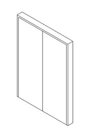 Internal Double Door, Blank Leaf