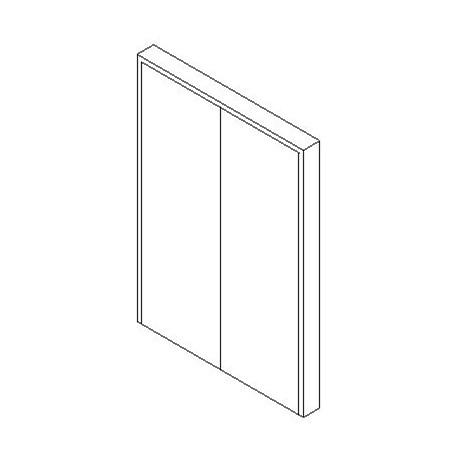 Internal Double Door, Blank Leaf