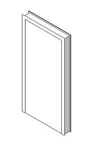 Internal blank single leaf door