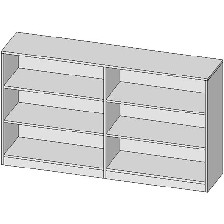 Half Height Double Shelving Unit