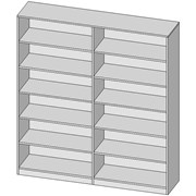 Full Height Double Shelving Unit