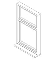 Single Window System with a Top Hung Opening Light and Fixed Transom