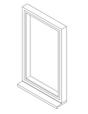 Single Window System with a Side Hung Opening Light