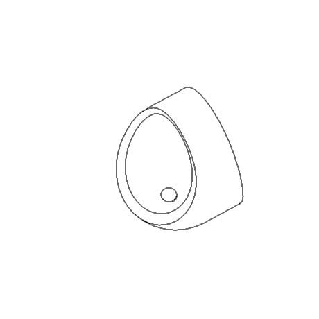 Wall mounted individual urinal bowl