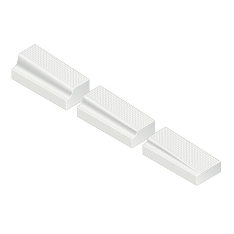 Kassel® Ramp Set No. 3 Kerb - 180 mm left hand