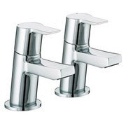 PS 3/4 C Pisa Bath Taps Chrome