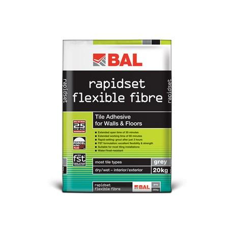 Rapidset Flexible Fibre - Tile adhesive