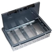 Screed and Screwfix Floor Box - 99 Series 3 or 4 Compartment