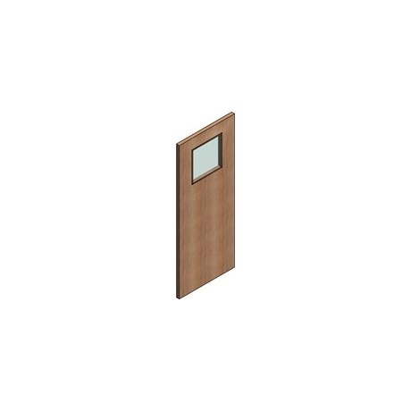 FD30 Double Door Flush Frame - Vision Panel 1