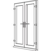 Heritage 2800 Decorative French Door - F1 Open In