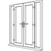 Heritage 2800 Decorative French Door - F4 Open In