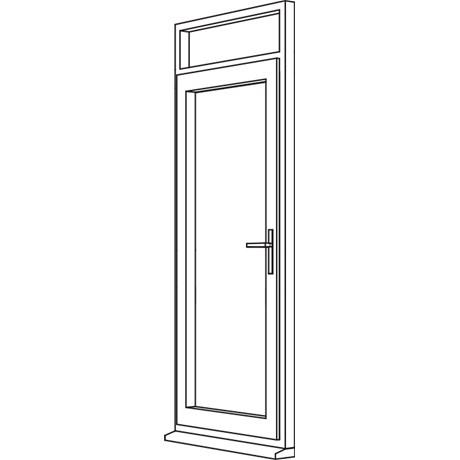 Heritage 2800 Decorative Residential Door - R3 Open In